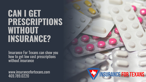 Can I Get Prescriptions Without Insurance