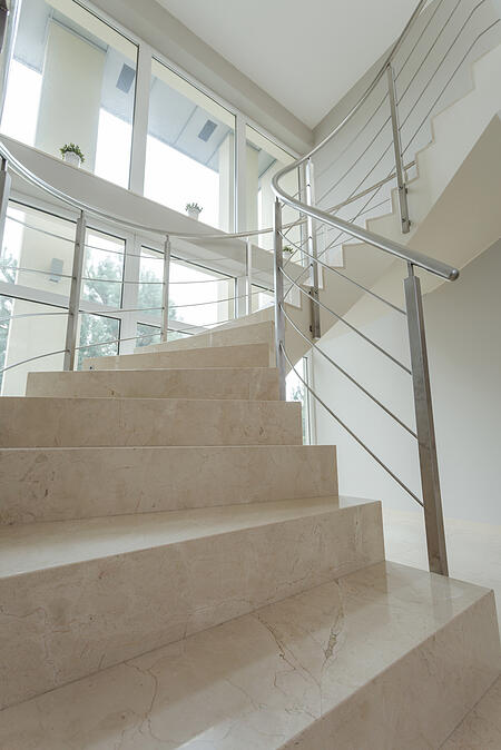 Marble stairs can change the home insurance requirements