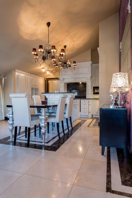 Elegant dining room interior in exclusive mansion-1