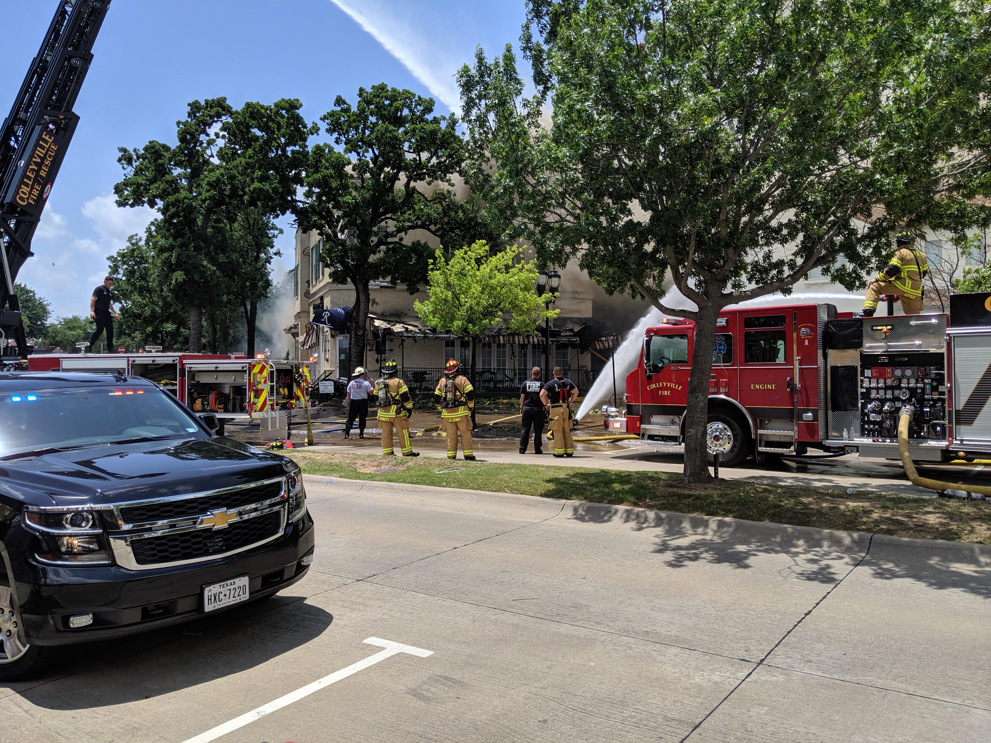 Colleyville Fire Department Working Blaze
